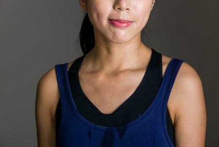 cuerpo femenino: Carrocer�a femenina con el sudor