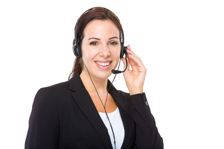 Female customer services operator Stock Photo