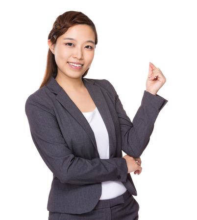 Businesswoman got an idea photo