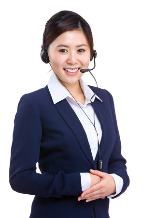 Support phone operator photo