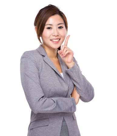 new idea: Businesswoman with an new idea Stock Photo