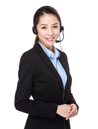 customer assistant: Help desk supporter Stock Photo