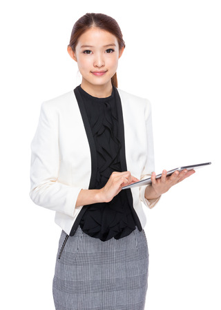 real esate: Businesswoman use of digital tablet