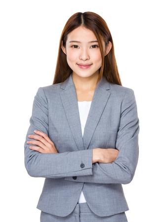 femmes souriantes: Femme d'affaires