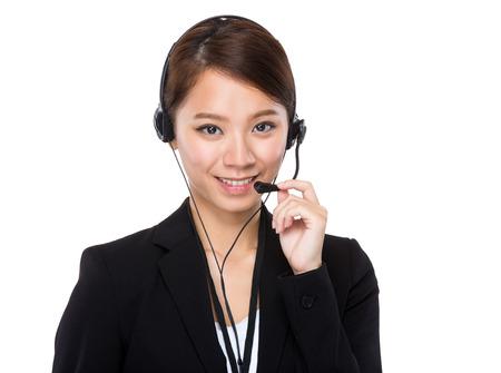 Customer services operator photo