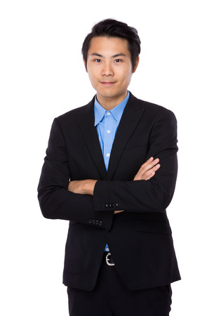 fold: Asian Business man Stock Photo