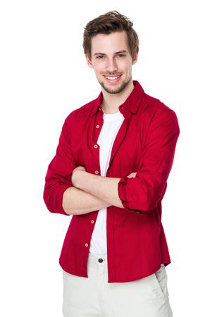 red  man: Hombre de raza cauc�sica