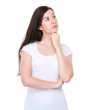 Woman think of something photo