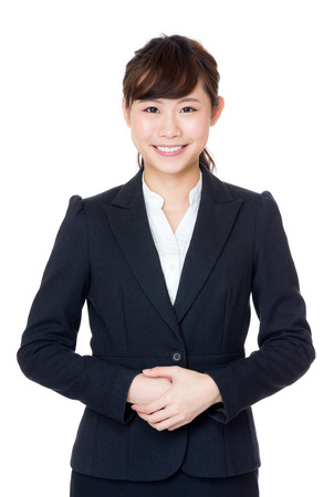 servicio al cliente: Mujer de negocios asiática