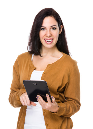 use: Woman use of tablet