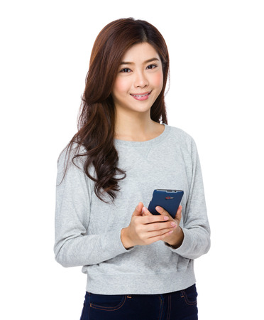 smart girl: Young beautiful girl using mobile phone
