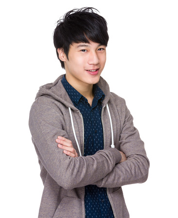 good looking model: Young asian male Stock Photo