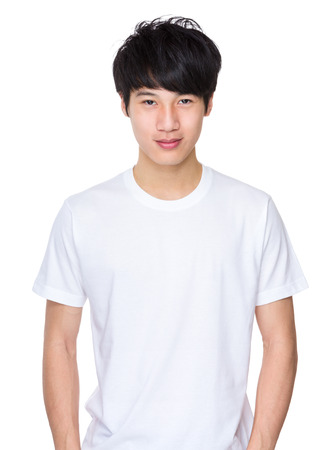 Handsome asian young man Stock Photo