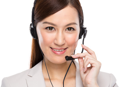 Customer services operator with headset photo