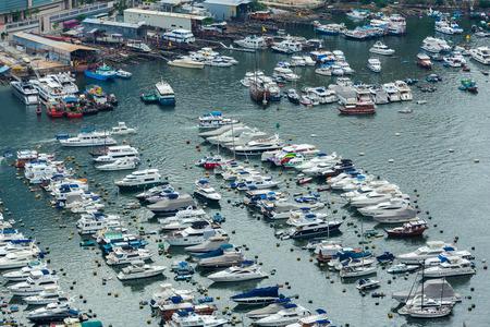 sheltered: Sheltered harbour in Hong Kong