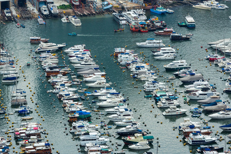 sheltered: Sheltered harbour from top view