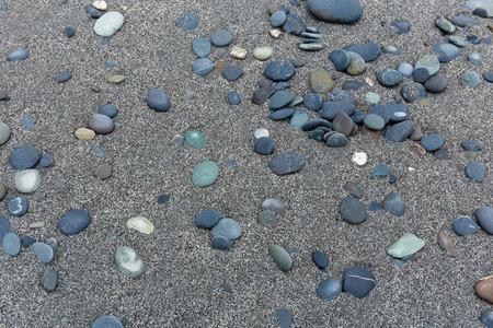 flint: Stone flint on the beach Stock Photo