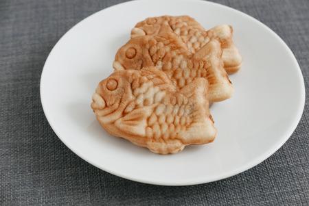 fished: Fished shaped cake, Taiyaki of japanese traditional Stock Photo