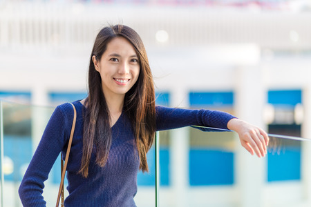 Asian woman at outdoor photo