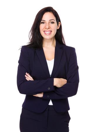 Brunette Businesswoman portrait photo