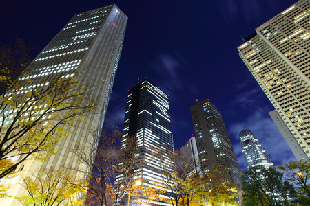 business district: Business district in Tokyo