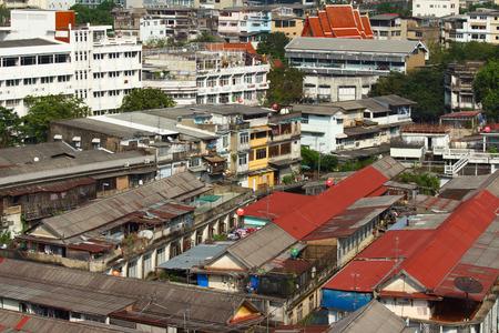 slum: Slum area of Bangkok