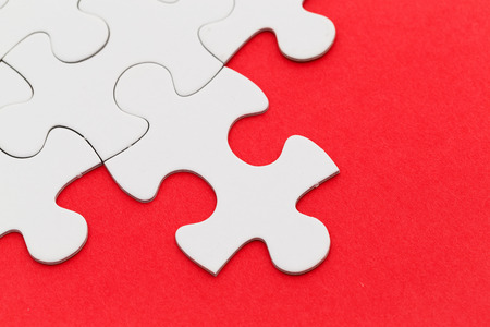 appropriate: Jigsaw puzzle with missing red background