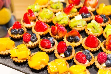 fruit tart: Different fruit tart in shop
