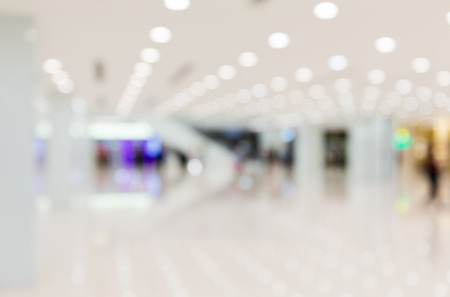 Abstract blur shopping mall background photo