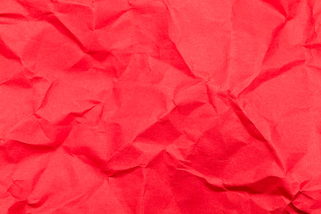 red paper: Crumpled red paper