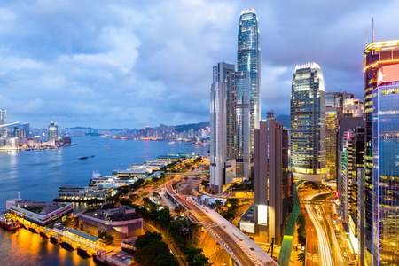 hong kong harbour: Victoria Harbor of Hong Kong