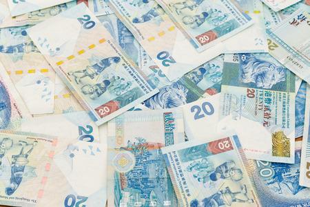 twenty: Twenty Hong Kong dollar background