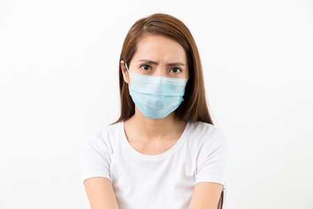 Young woman wear with face mask Stock Photo