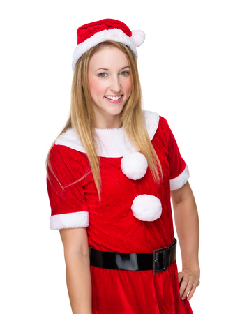 christmas costume: Woman with christmas costume