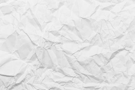 crinkly: Wrinkled white paper