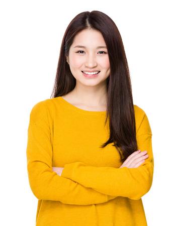 Vrouw staand Stockfoto