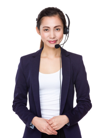 hotlink: Businesswoman with headset