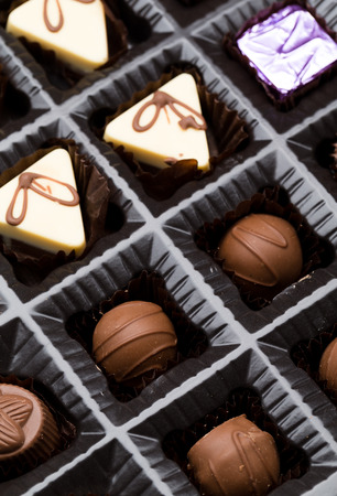 confiserie: Box of chocolates box Stock Photo