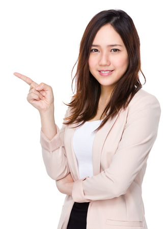 Businesswoman with finger point up Imagens - 42275930