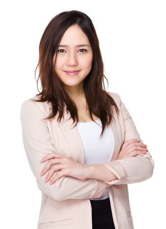 Asian junge Geschäftsfrau, Standard-Bild