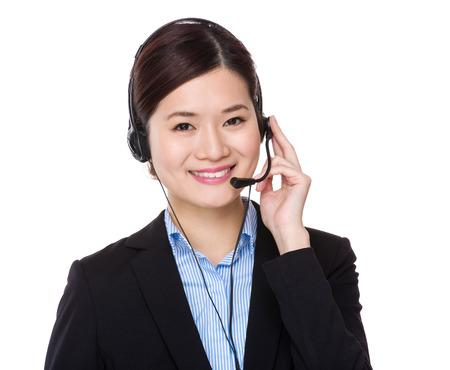hotlink: Call centre agent Stock Photo