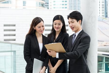 work together: Business partner work together Stock Photo