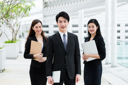 Group of the business people at outdoor Stock Photo