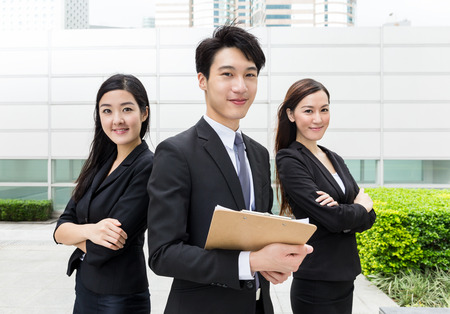 asia business: Business teammate working together
