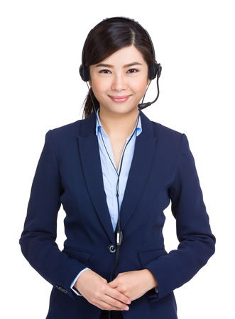 hotlink: Call center agent Stock Photo