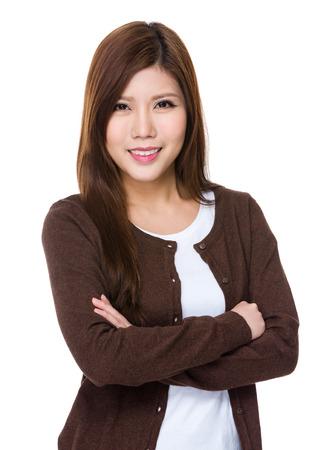 korean style house: Woman Stock Photo