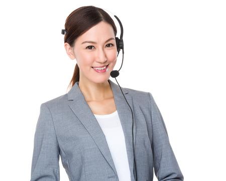 customer: Customer services consultant Stock Photo