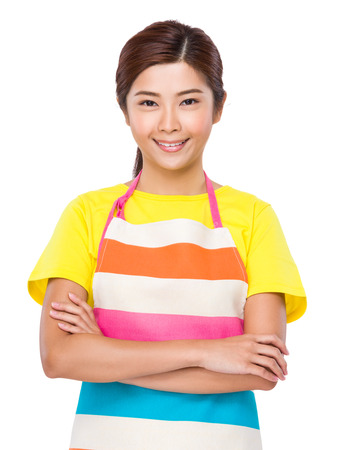 japanese cookery: Housewife portrait Stock Photo