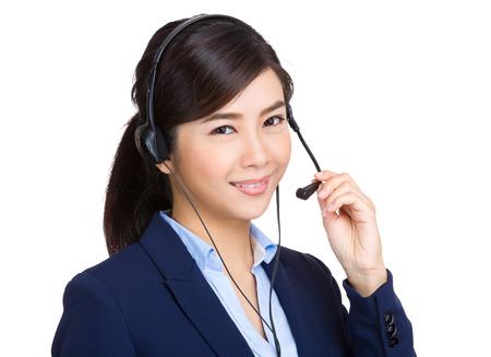 Call Center Agent portrait Standard-Bild