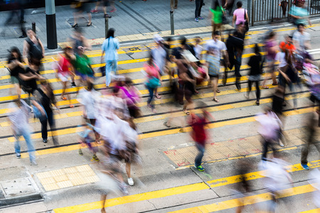 香港で忙しい横断歩道